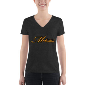 Motoza Women's Deep V-neck Tee (Grey)