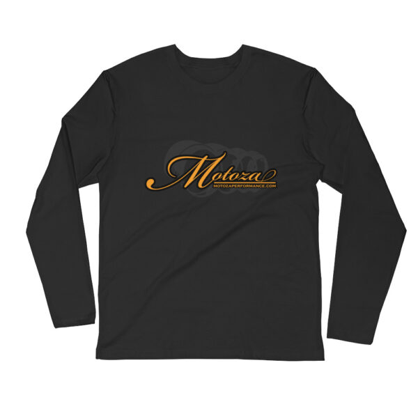 Motoza Long Sleeve Fitted Crew Shirt (Black)