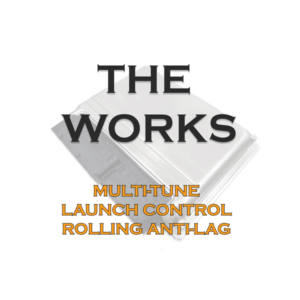 The Works package, Multi-tune, launch control, rolling anti-lag